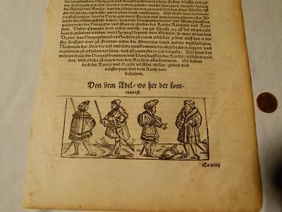 Antique GERMAN - DUTCH ? Pictorial Engraved Plate Book Single Page #F53*