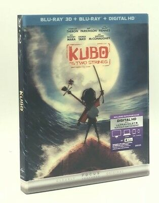 Kubo and the Two Strings 3D (Blu-ray 3D+Blu-ray+Digital HD, 2016) w/ Lenticular