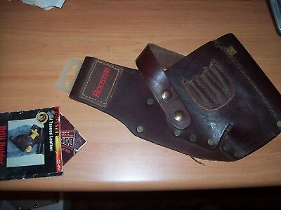 Rooster brown leather drill holster CC-411 holds 3 bits NWT