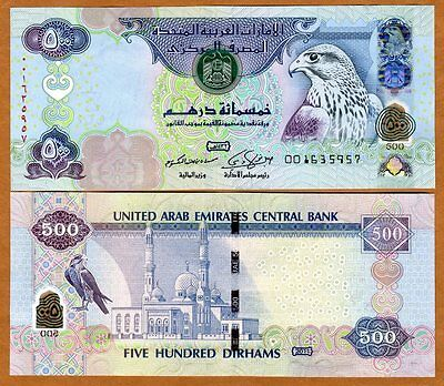United Arab Emirates, 500 Dirhams, 2011, P-32d, Hybrid Polymer, UNC