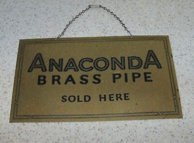 Montana Merchants Brass Sign - Rare - Anaconda Brass Pipe Company
