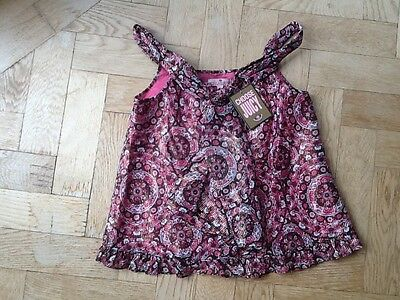 NWT Juicy Couture New & Genuine Girls Age 8 Pink Cotton Blend Sleeveless Top