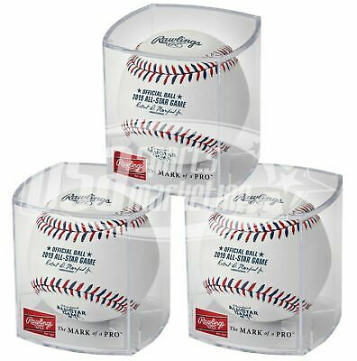 (3) Rawlings 2019 All Star Game MLB Official Baseball Cleveland Indians - Cubed