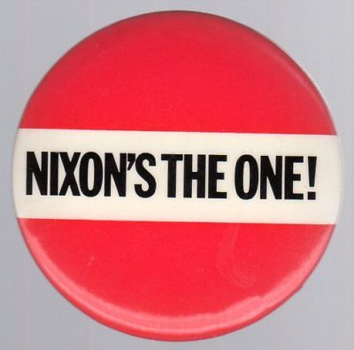 Nixon's The One! - Large Bold Campaign Button
