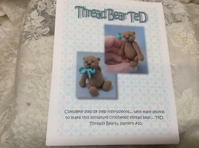 Crochet Teddy Bear Pattern With Detailed Instructions Thready Bears Free Shiping
