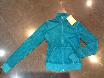 "NWT Juicy Couture New & Genuine Ladies Small Green Cotton Jacket & ""J"" Zip Pull"