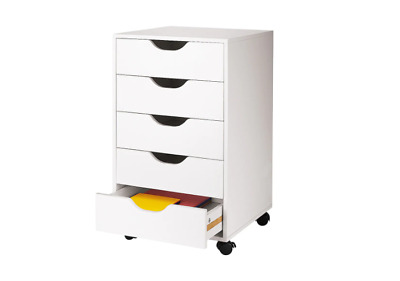 5 Drawer Letterpress Cube Arts Organizer Supply Storage Unit for Office Home