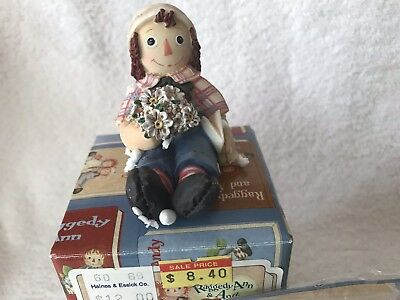 Raggedy Ann &Andy*Limited Edition Figurine*Enesco*Be Mine*Valentine*Flowers