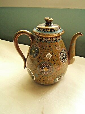 Japanese Cloisonne Teapot Beautiful Quality 19Th Century