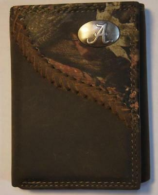 ZEP-PRO Buck Deer Fence Row Camo Trifold Leather Wallet TIN Gift BOX