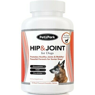 Hip and Joint Supplement for Dogs - Glucosamine Chondroitin MSM Chews ...