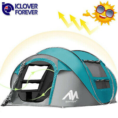 4-5Person Tent Instant Automatic Pop Up Double Layer Backpacking Camping Shelter