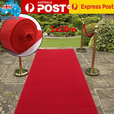Red Carpet Runner Hollywood Awards Night Casino Wedding Party Decoration 10x1m