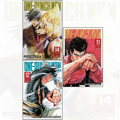 One-Punch Man Series BY ONE 3 Books Collection Set Volume 11 12 14 Brand NEW