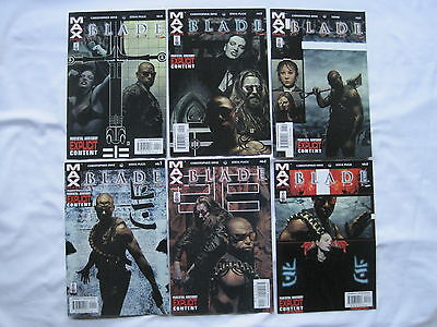 BLADE : COMPLETE 6 ISSUE SERIES by HINZ & HOMS. EXPLICIT CONTENT.MARVEL MAX 2002