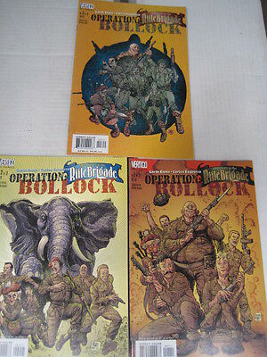 OPERATION BOLLOCK : COMPLETE 3 ISSUE SERIES by ENNIS & EZQUERRA.DC VERTIGO.2001
