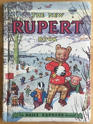 RUPERT ORIGINAL ANNUAL 1951 Inscribed. Not Price Clipped SOUND VG EXAMPLE