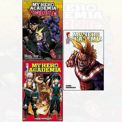 My Hero Academia Series By Kohei Horikoshi 3 Books Collection set Vigilantes NEW