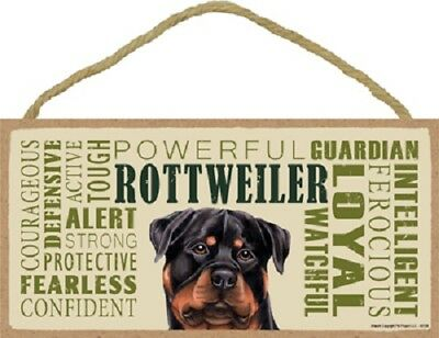 ROTTWEILER Subway Style DOG SIGN wood WALL HANGING PLAQUE Loyal Puppy USA MADE