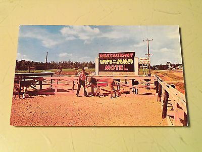 Vintage 1963 South of the Border Dillon SC PC Postcard Pedro's Burros Donkey