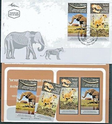 ISRAEL 2018 FAUNA ARCHEOZOOLOGY IN ERETZ ISRAEL STAMPS MNH + FDC's + BULLETIN