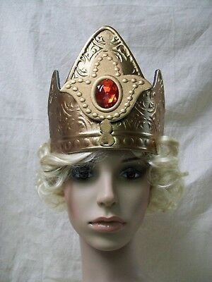 Gold Queen Crown Red Majesty Your Highness Medieval Renaissance King Empress