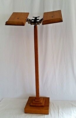 "Arts & Crafts,Mission Style Bible Book Stand,Wood,Cast Iron,Very Good,52"" tall"