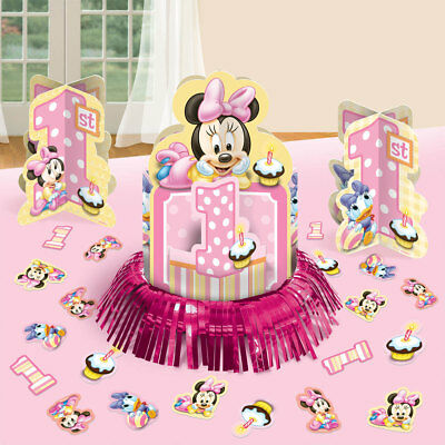 DISNEY BABY MINNIE Mouse 1St Birthday Party Table Centerpiece