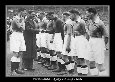 Photograph/7 x 5/Photo/Print/Portsmouth/Wembley/FA Cup/1939/Team/King George