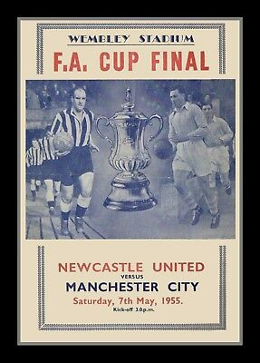 Photograph/7 x 5/Photo/Poster/FA Cup Final 1955/ Newcastle v Manchester City