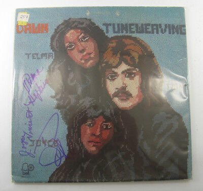 Dawn with Tony Orlando Signed LP Record Album Tuneweaving with Auto DS18546