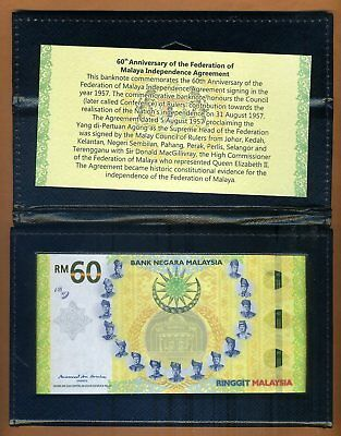 Malaysia, 60 Ringgit, 2018 Hybrid Polymer UNC > Commemorative with the folder