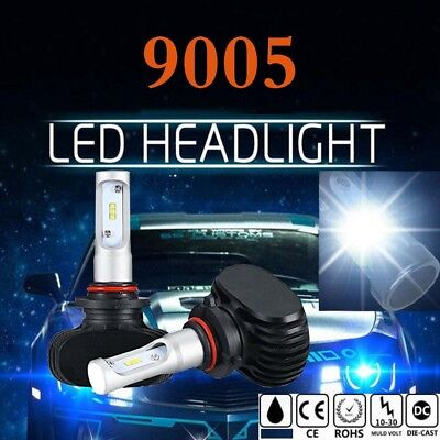 Pair 9005 HB3 H10 LED Headlight Bulbs Kit CSP Fog Light Lamp High Low Beam 6500K