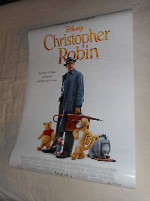 "Walt Disney CHRISTOPHER ROBIN official movie poster DS 27""x40"" Winnie the Pooh"