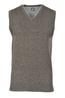 Eleventy Cardigan Men's XL Gray Cotton  Slim Fit  Mottled
