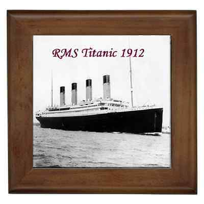 Rms Titanic 1912 Print Ceramic Framed Tile - Wall Deco, Art - Great Addition