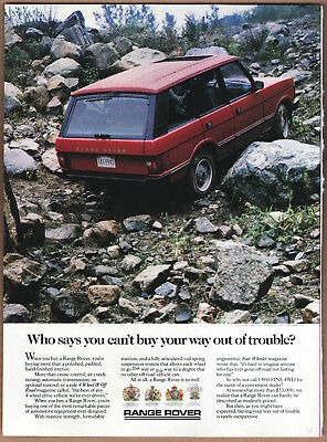 """1988 Range Rover Ad """"Who says you can't..."""" Print Ad"""