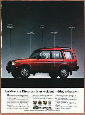 """1995 Land Rover Ad """"Inside every Discovery."""" Print Ad"""