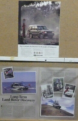 """1995 Land Rover Discovery Ad """"How to prepare the Discovery..."""" and Road Test"""