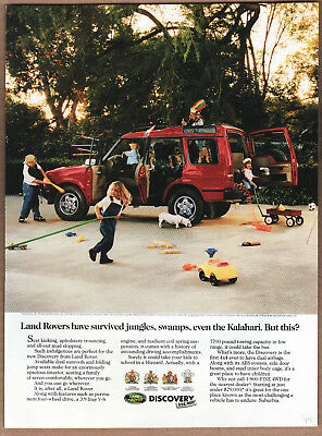 """1994 Land Rover Ad """"Land Rovers have..."""" Print Ad"""