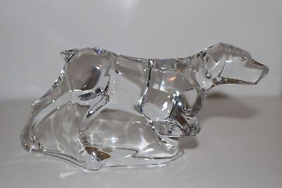 Baccarat Crystal Pointer Hunting Dog Figurine/paperweight-France