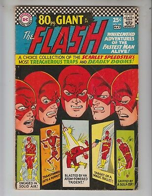 Flash 169 VG- (3.5) 5/67 80 page Giant G-34 Whirlwind Adventures of the Flash!