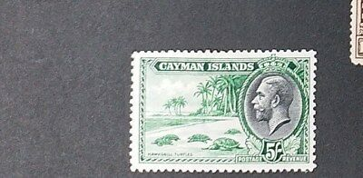 CAYMAN ISLANDS 1935 5s  SG 106  Sc 95 MLH with thin on back