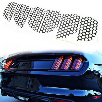 Rear Tail Light Honeycomb Style Stickers Cover For Ford Mustang 2015 2016 2017
