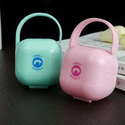 Portable Infant Pacifier Holder Box Baby Nipple Soother Cradle Case Holder Box