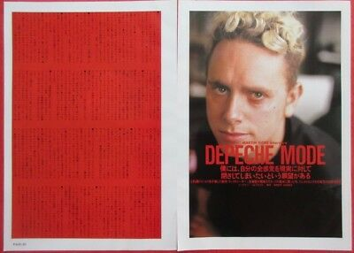 1990 Martin Gore DEPECHE MODE CLIPPING JAPAN MAGAZINE CUTTING OI G10 2PAGE