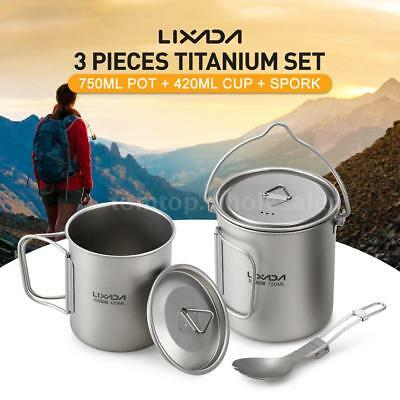 Lixada 900//1600ml Hanging Pot Cup for Outdoor Camping Hiking Backpacking R3C1