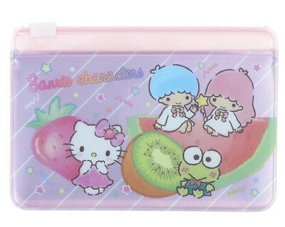 Sanrio 2018 Hello Kitty Mix Sanrio Characters card holder with PVC zipper pocket