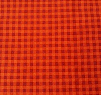 """1 yd 21/"""" Fresh Paint Michele D/'Amore Marcus Brothers Orange Burgundy Check Plaid"""