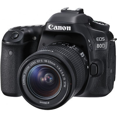 Canon EOS 80D DSLR Camera with 18-55mm Lens 1263C005